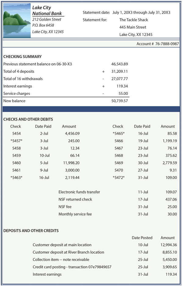 statement of accounts template