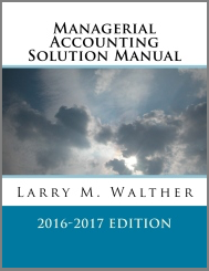 Managerial Accounting Solutions Manual