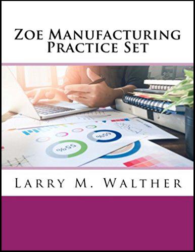 Zoe Manufacturing Practice Set